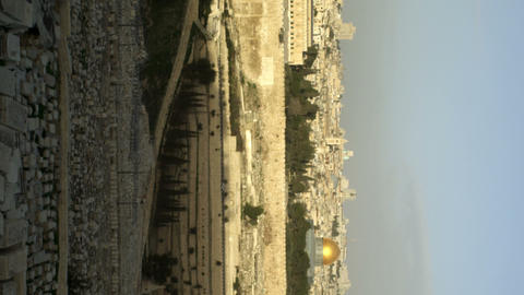 Royalty Free Stock Video Footage panorama of Old Jerusalem filmed in Israel at 4 Footage