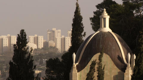 Royalty Free Stock Video Footage of Dominus Flevit Church filmed in Israel at 4k Live Action