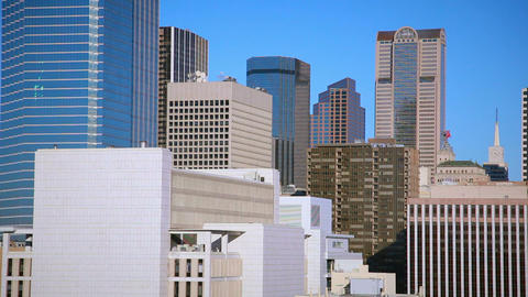 Dallas skyline from office building Footage