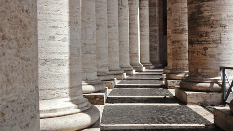 Columns of colonnade of St Peter Footage