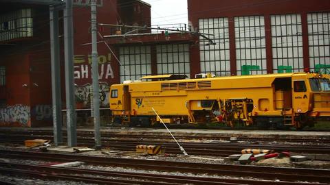Railway tracks in Firenze S.M.N Footage