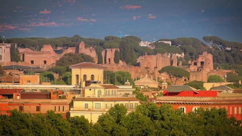 Treeful Roman cityscape Footage