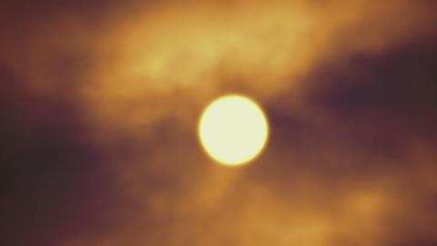 Foggy Moon Footage