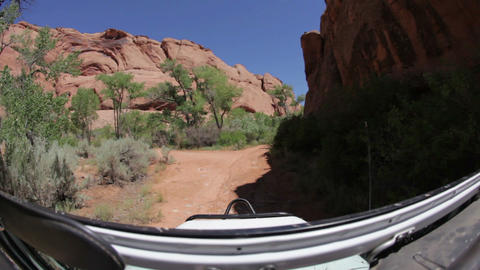 Driving on trail in Moab, Utah Footage