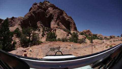 Driving through Moab Footage