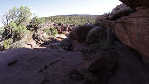 View from an Outcropping of Rocks in Moab Footage