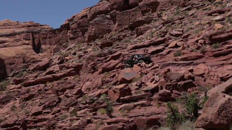 Jeep travels through Moab Footage
