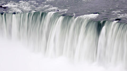 Waterfall and moving mist at Niagara Falls Footage
