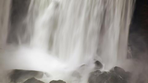 Water falling on rocks at Niagara Falls Live Action