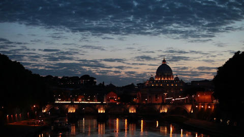 Wide angle view of San Pietro Vatican City Footage