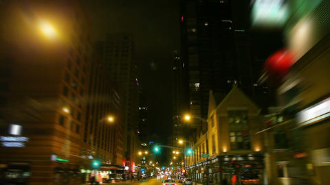 Downtown cruise in the city Footage