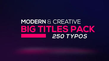 Big Titles Pack 250 After Effects Template