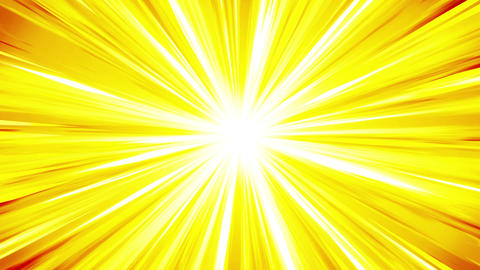 Cartoon beam animation. Shiny sun background. Sunburst rays in heaven. Abstract Animación