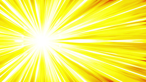 Cartoon beam animation. Shiny sun background. Sunburst rays in heaven. Abstract Animation