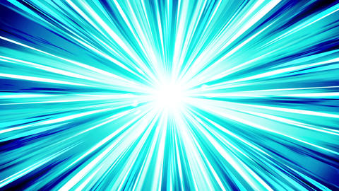 Starburst rays in space. Cartoon beam loop animation. Future technology concept Animation