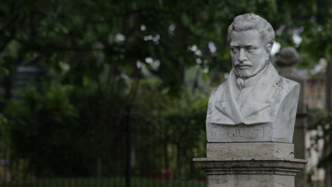 Statue of Italian statesman Footage