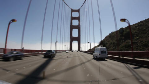 Driving Across the Golden Gate Bridge Footage