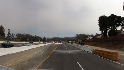 Road Construction on the California Freeway Footage