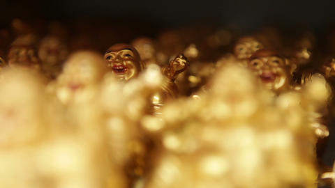 Golden Buddha Figurines Footage