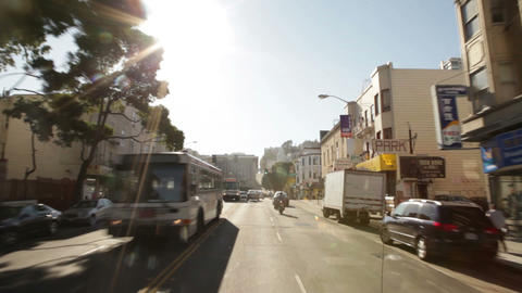 Time-lapse driving through San Francisco Footage