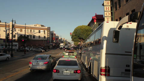 Time-lapse driving toward downtown San Francisco Footage