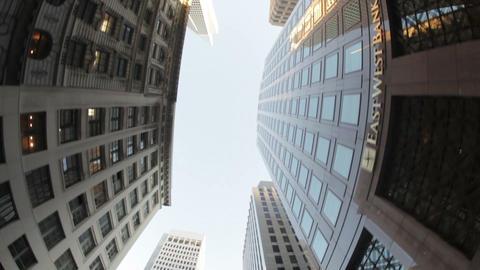 Skyscraper-Lined Street Footage