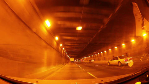 Driving Through Bridge Tunnel Footage