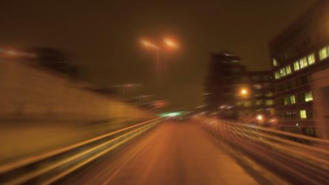 Car merging onto freeway Footage