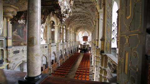 Zooming shot of beautiful church interior in Copenhagen, Denmark Footage