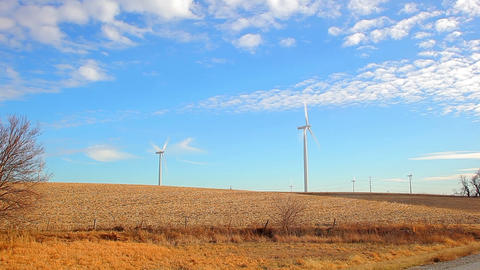 Windmills in Iowa Footage