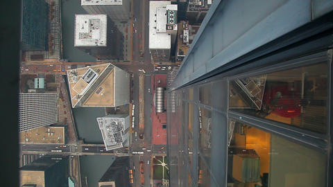 Chicago aerial view of streets Footage