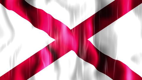 Alabama State Flag Animation Animation