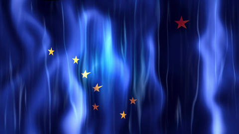 Alaska State Flag Animation Animation