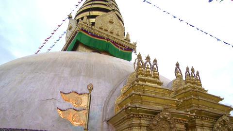 Buildings in the city of Kathmandu, Nepal Footage