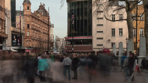 Panning time-lapse of Leicester Square Footage