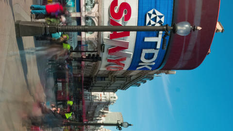 Vertical time-lapse of Piccadilly Circus during daytime Footage
