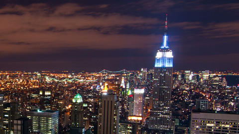 New York time-lapse from the Rockefeller building. Cropped Footage
