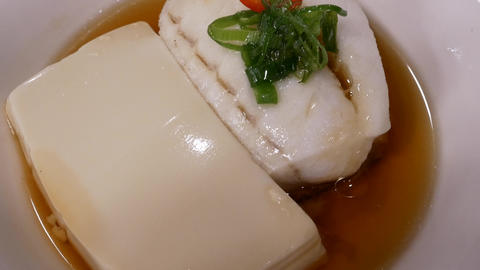 Motion of tofu and fish dim sum inside Chinese restaurant with 4k resolution Footage
