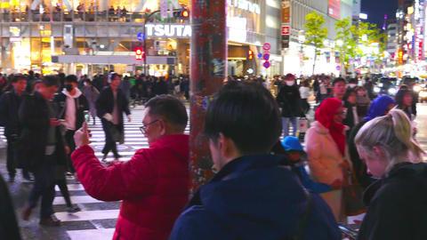 Shibuya crossing left pan Live影片