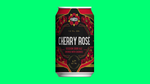 Penrose, cherry rose, session sour ale, brewed with cherries, penrose brewing Animation