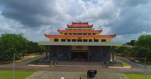 Religious temple on the island of Bintan Stock Video Footage