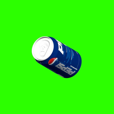 Video footage. Rotating can of PEPSI 3D Full HD on Green Screen Background Animation