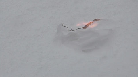 flame and snow Stock Video Footage