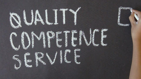 Quality, Competence, Service Stock Video Footage