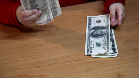 dollar bills Stock Video Footage