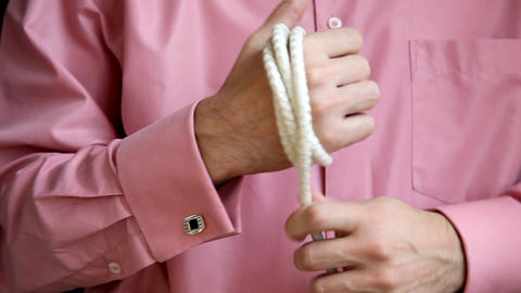 Rope At Hand stock footage