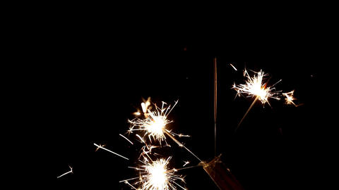 sparkler Stock Video Footage