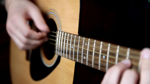 acoustic guitar Stock Video Footage