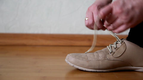 shoelaces Stock Video Footage