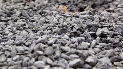 pile of gravel Stock Video Footage
